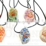 Orgone Eye Pendant Chakra Set ( With Cord) : Wholesale Chakra Orgone Agate Pendant Set Supplier India