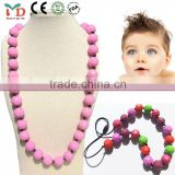 silicone necklace beaded cheap fashion wholesale natural stones for jewelry making fancy long chain necklace