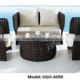 UGO-A098 Garden outdoor furniture sofa set wholesale rattan wicker furniture with cushion