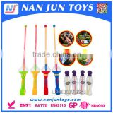 Hot selling summer toys 58cm plastic cheap toys colorful bubble sword with soap water in opp bag for kids