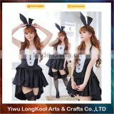 2016 Custom made sexy girls Christmas dance costume black dress bunny costume