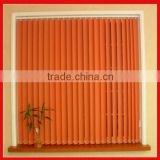 lace pleated fabric covered ceiling PVC faux wood vertical window blinds