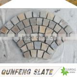 cut-to-size stone form and split surface finishing natural edge rusty culture stone pattern outdoor slate tile