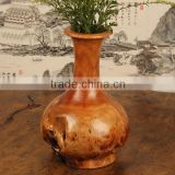 Exquisite Carved traditional natural handmade wooden vase