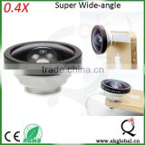 mobile phone camera lens 0.4x super wide angle selfie lens for Huawei P8 meizu mx5 Xiaomi Mi4 samsung galaxy note 4