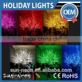 Artificial Flower Tree Outdoor Lights Led Artificial Cherry Flower Holiday Light Fake Plant With Led Lights                                                                         Quality Choice