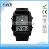 Hot Sale Dual-function Movement Electronic Plastic Sports Watch                                                                         Quality Choice
