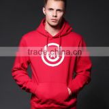 european fashion wholesale custom men printing crewneck sweatshirt with kangaroo pockets
