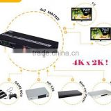 4x2 HDMI Matrix Splitter with IR Remote Control, Features , ARC, MHL, HDMI 1.4, 3D and 4K x 2K