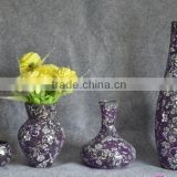glass mosaic mirror vase