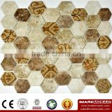 "IMARK 3D Inkjet Printing Comment tiles in 2"" Hexagonal Glass Mosaic Tile CODE IH6-006"