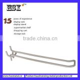 Manufacture various of shapes metal display hanging hooks /slatwall hooks for exhibitions/supermarket HSX-175