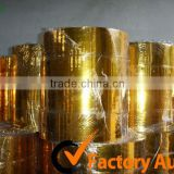 Gold PVC metallic film for Festival Decoration