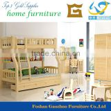 2016 Hot Sale imported solid pine wood kids loft bunk bed with three bed