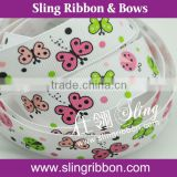 2015 New Design Butterfly Printed Grosgrain Ribbon For Sale