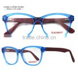 New Crystal Blue Dark Red Cute Men/Women Fashion Design Glasses Frame Clean lens Acetate Eyeglasses Optical Eyewear 51BG24010