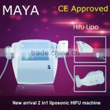 Anti-aging 2016 NEW 2 In1 Hifu Slimming Machine / Hifu Face Lifting Beauty Salon Equipment (CE Approved) Nasolabial Folds Removal
