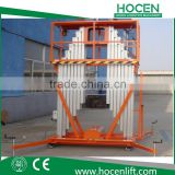 Adjustable Double Mast Aluminum Alloy Hydraulic Electric Aerial Maintenance Working Table Lifting Platform Price