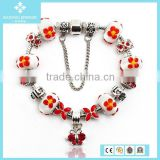 Unique 925 Sterling Silver Ceramic Beads Bracelet Jewelry Wholesale