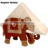 MDF wood Wall hanging Napkin Holder Elephant home decoration gift christmas handmade art work