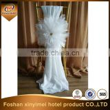 chiffon wedding rosette chair cover for sale