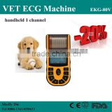 2016 Cheap Price CE&ISO Single Channel Veterinary/VET Portable Electrocardiograph ECG Machine EKG Machine Price EKG-80V-Shelly