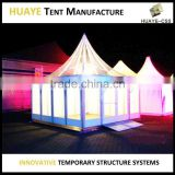 luxury glass wall roof full clear aluminum structure wedding party tent for events with lining decor