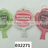 4'' Whoopee Cushion key chain round fart inflatable toy