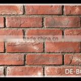 Classic decorative indoor red wall bricks, indoor wall decoration 3D bricks, interior cement wall bricks