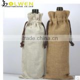 Promotional newest linen wine bottle bag