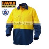 mens fire resistant hi visibility safety work shirt