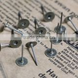 5mm 6mm 8mm 10mm Antique Bronze Round Ear Studs Blank Base Setting Earring Tray For Jewelry DIY