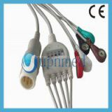 Philips One-piece 5 lead ECG cable with leadwires ,12pin