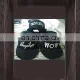 Custom Logo Printing 3D Embriodery Black color Hip Hop Street Cap