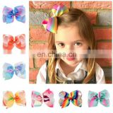 "Wholesale 6"" jojo bows barrette Girl Hairpins"