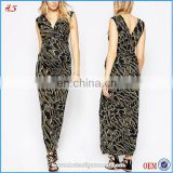 Best selling modern style maternity clothes maxi bodycon knit plunge v-neck boutique dress pregnant women dresses in camo