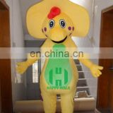 New arrival!!HI CE animal mascot costume barney for adult,movie character yellow barney mascot costume