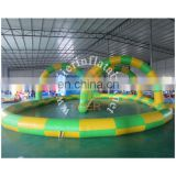 inflatable track for zorb ball, commerical inflatable sport playgroud