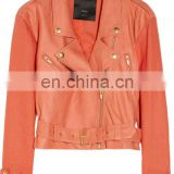 Ladies Leather Biker Jacket / Vented Cool Rider Jacket/Leather Motorbike Jackets/Punk Rock Leather Jackets.