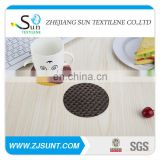 Fashion black drink coasters