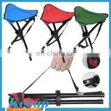 Promotional give-away Top quality cheap aluminum three legs fodling chair stool chinese supplier