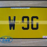 Simple Car Accessory Metal Yellow Printing Rectangular Car License Plate Number Plate