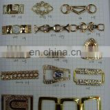 Fashion metal garment accesories rhinestone buckle on bags or shoes