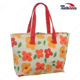 Lady Girl Lovely Customized Fashion Handbag with Flower Printing