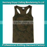 Oem Y Racer Back Gym Tank Tops With Printed For Men Made in China Supplier Wholesaler Clothes