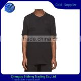 Wholesale 180gsm Soft Combed Cotton Mens Tall Tee Black