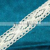 NEW CROCHET LACE SEWING FABRIC NEW CROCHET LACE SEWING FABRIC BORDER TRIM WHITE RIBBON HANDMADE CRAFT ART 4 YD