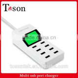5V 9A 8 Port Portable Mutiple USB Home Wall Travel Charger US Plug AC Power Adapter With Display