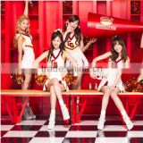 Girls generation the same sports cheerleading uniform sexy female singer costumes