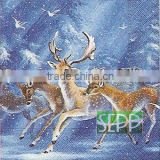 Hot Selling Christmas Decor Design Printed Paper Napkins for Resturants